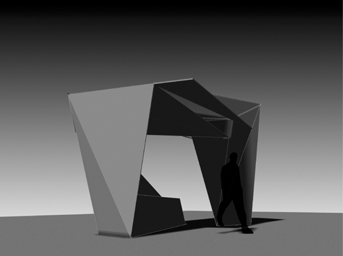 folded bus shelter